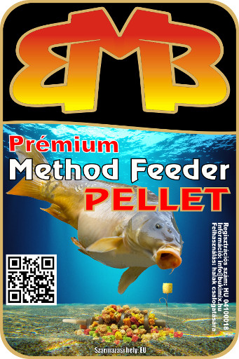 Prémium Method Feeder pellet 3 mm - halibut-narancs