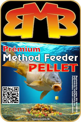 Prémium Method Feeder pellet 3 mm - halibut-fokhagyma-narancs