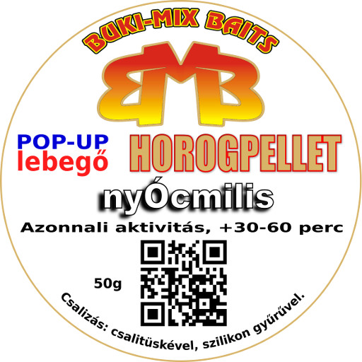 Horogpellet 8 mm /lebegő/ + gratis - epres