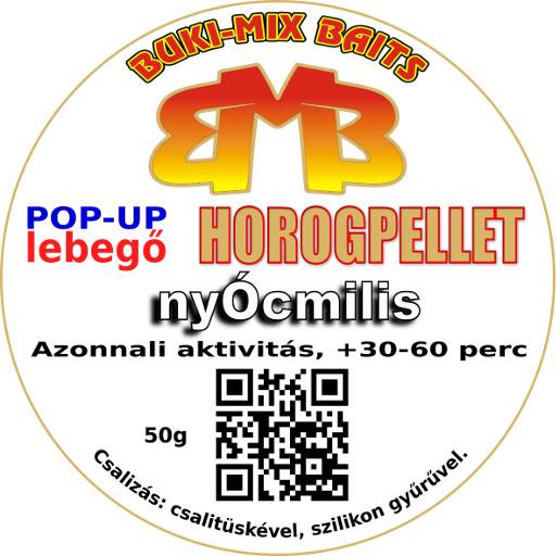 43-01-09 Horogpellet 8 mm /lebegő/ + gratis - sárgadinnyés