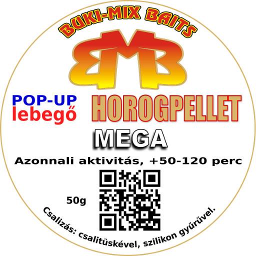 Horogpellet Mega /lebegő/ + gratis - fokhagymás